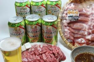 kirinビールと焼肉セット